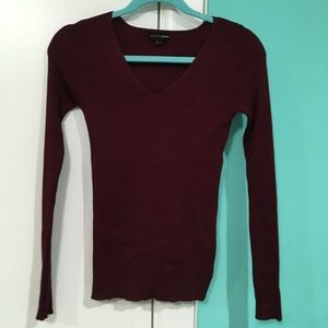 Fashion Nova Burgundy Sweater